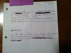 Sample student feedback