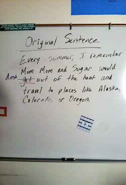 Original Sentence