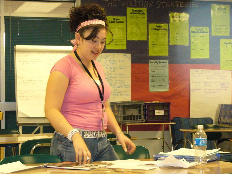 Student Preparing for Grade Conference