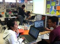 Students Researching Authors
